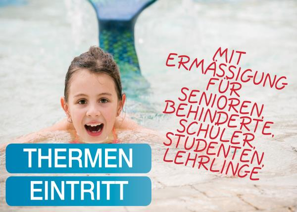 Tageskarte H2O Therme Ermäßigung Senioren/Schüler/Personen mit Beinträchtigung/Studenten/Lehrlinge